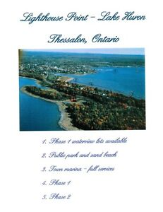 WATERFRONT FULLY SERVICED LOTS FOR SALE THESSALON,ONTARIO.