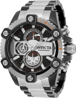 Invicta Mens Coalition Force Octane Chrono Black Dial 2-Tone SS Bracelet Watch