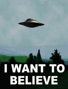 I Want To Believe - X Files Art Movie Film UFO  Fabric Poster 32
