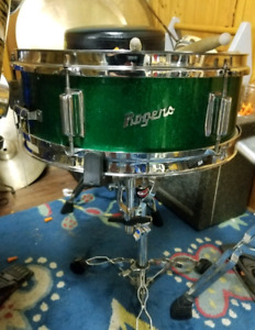 60's Green sparkle Rogers snare