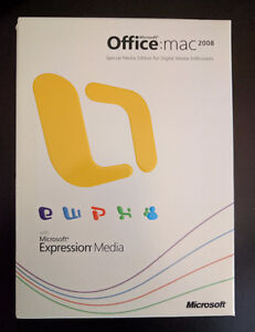 Microsoft Office 2008 for Mac (with Expression media)