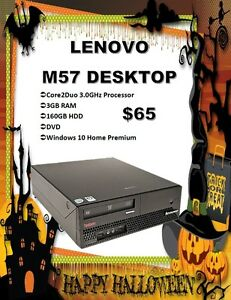 DESKTOP SALE - Lenovo M57 Desktop Only $65!