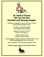 St. Mark's All You Can Eat Pancake & Sausage Supper