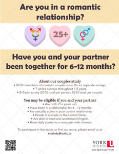 Early Relationships Over Time (LOOKING FOR PARTICIPANTS)