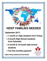 TATAMAGOUCHE - 1 month host families needed (September 2017)