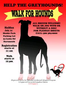 Maritime Greyhound Adoption Program Walk for Hounds