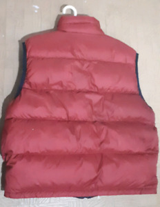 Reversible red and black mens vest