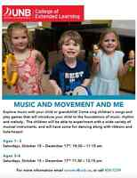 MUSIC and MOVEMENT at the UNB Conservatory