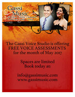 Gassi Voice Studio 2 FREE VOICE ASSESSMENTS remaining!