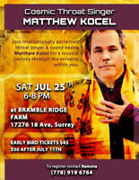 Healing and live entertainment with Matthew Kocel