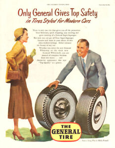 1952 full-page (10 ¼ x 13 ¼ ) magazine ad for General Tires