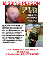 Missing Person (Andre Carter) 21 years old