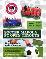 OPEN SOCCER TRYOUTS for Mapola FC Girls and Boys