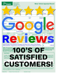 INSTANT CAR APPRAISAL (ONLINE/MOBILE) SAVE $100'S ON HST TAX $40