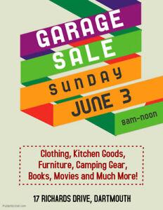 Garage Sale - SUNDAY JUNE 3 - 8am-Noon - 17 Richards Drive
