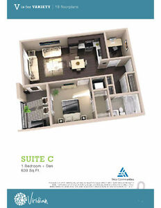 Brand new 1 Bed + Den condo in Sage Hill Viridian Nov Possession