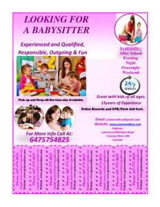 Looking for a reliable Babysitter in Scarborough?