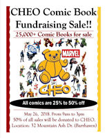 25,000+ Comic Book Fundraising Sale for CHEO! Now with giveaway!