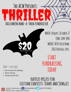 The ACW Presents: Thriller! Halloween Bowl-a-thon Fundraiser