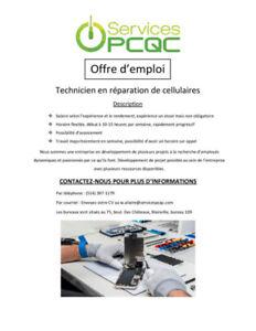 Offre d'Emploi Technicien en Réparation Cellulaire
