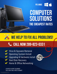THE BEST COMPUTER REPAIR AND RECOVERY IN NIAGARA!