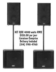 Location Système de Son QSC - Sound System Rentals