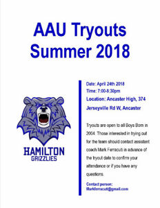 Hamilton AAU Tryouts