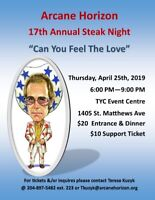 17th Annual Bud, Spud and Steak Fundraiser!