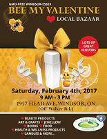 BEE MY VALENTINE- WINDSOR-ESSEX LOCAL  **BAZAAR**
