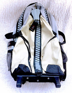 Awesome HUGE Chunky Zipper Backpack / Suitcase Large Size Grey