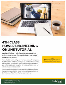 Online 4th Class Power Engineering - January 2018