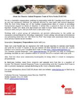 Disaster Animal Response Team of Nova Scotia - Volunteers Wanted