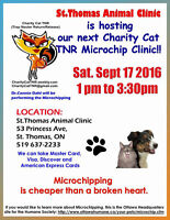 Microchip Clinic in support of Charity Cat TNR