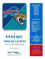 Week end football Jags vs Bills à Buffalo