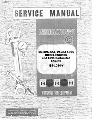 International Td-15 150 151 Td-24 241 16 525 554 24 1091 Engine Service Manual