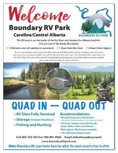 Beautiful Vacation Sites for lease/ Boundary RV Park/West Countr