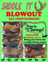 USED SADDLES BLOWOUT PRICES!!