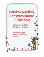 Norview Auxiliary Christmas Bazaar and Bake Sale