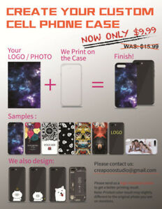 $9.99 FREE SHIPPING Cell Phone case custom print design DIY gift