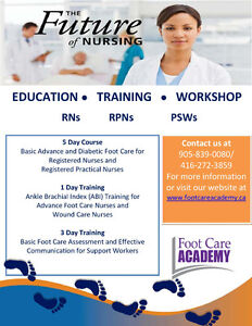 5 DAY FOOT CARE COURSE FOR NURSES Kawartha Lakes Peterborough Area image 1