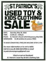Used Toy & Kids' Clothing Sale - May 26