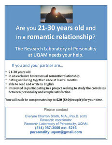 Are you 21-30 years old and in a romantic relationship?