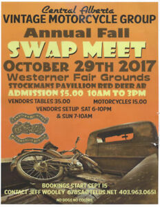 Central Alberta Vintage Motorcycle Group - Fall Swap Meet