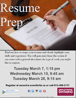 Resume Prep - Make yours great at EEC!