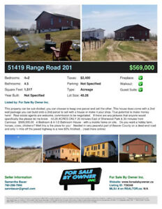 REDUCED! **SUBDIVIDABLE** 40.28 ACRES & ICF House - True walkout