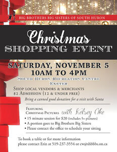 Vendors Wanted - Christmas Shopping Event Sarnia Sarnia Area image 1