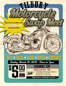 Tilbury Motorcycle Swap Meet **March 18th**