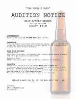 Audition Notice - Male Actors Needed