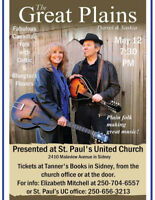 Concert: The Great Plains, Saskia and Darrel