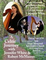 Celtic Harpist Jennifer White with Robert McMaster